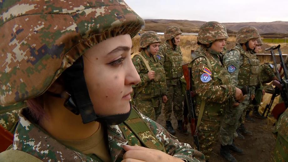 Современные амазонки Вооруженных сил Армении