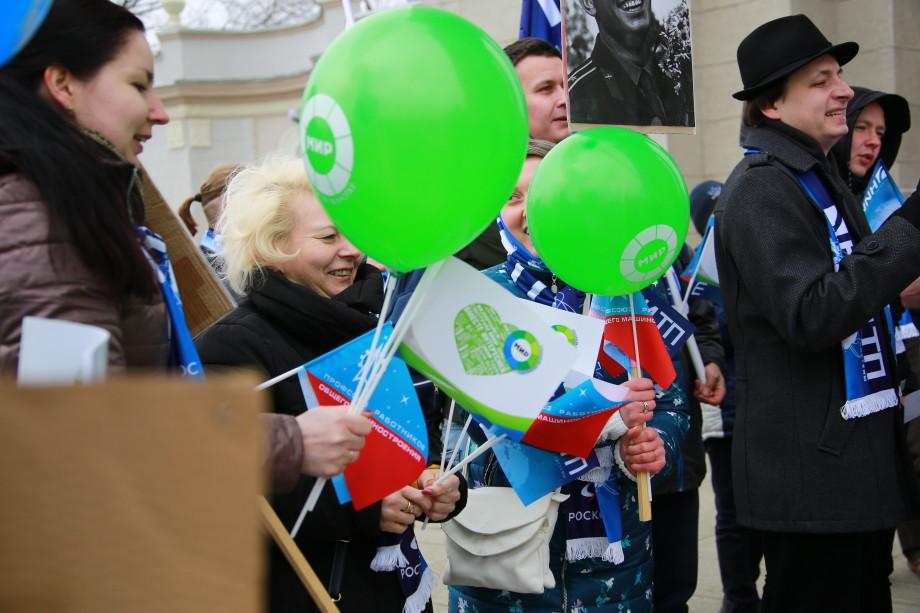 День космонавтики на ВДНХ: телеканал «МИР» поучаствовал в праздничном шествии