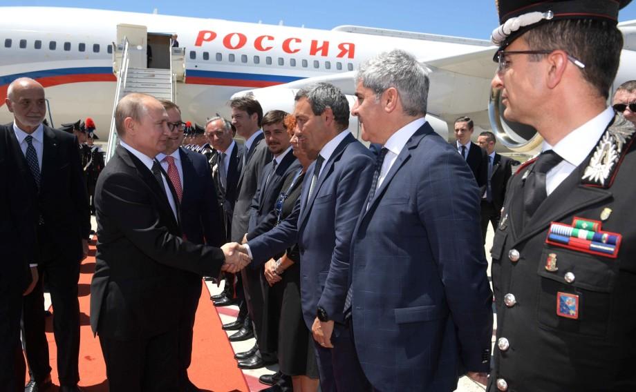 Путин прибыл с официальным визитом в Италию