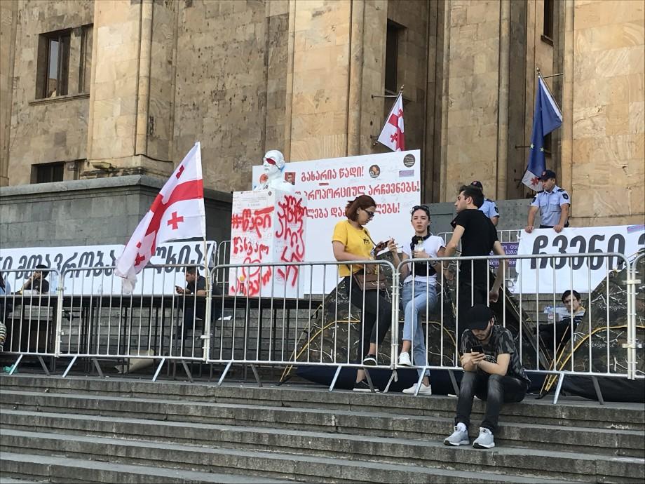 Протесты в Грузии: шесть человек объявили голодовку