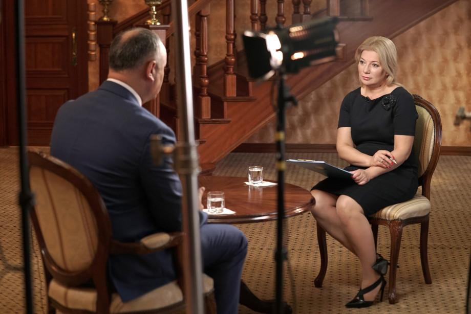 Интервью президента Молдовы Игоря Додона Межгосударственной телерадиокомпании «МИР»