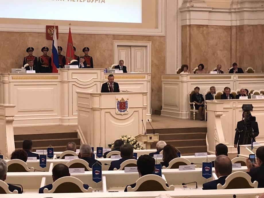 «Мой долг – оправдать доверие петербуржцев»: как проходила инаугурация Александра Беглова