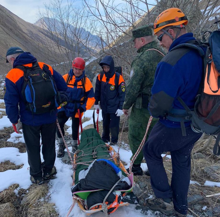 В горах Северной Осетии спасли альпиниста