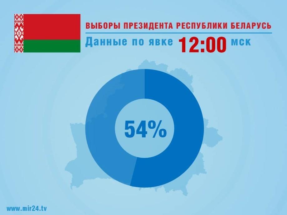 ЦИК: Выборы президента Беларуси состоялись, проголосовали более 54% избирателей