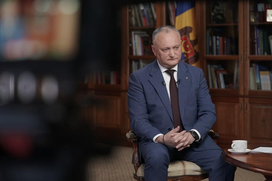 Интервью Президента Республики Молдова Игоря Додона телерадиокомпании «Мир»