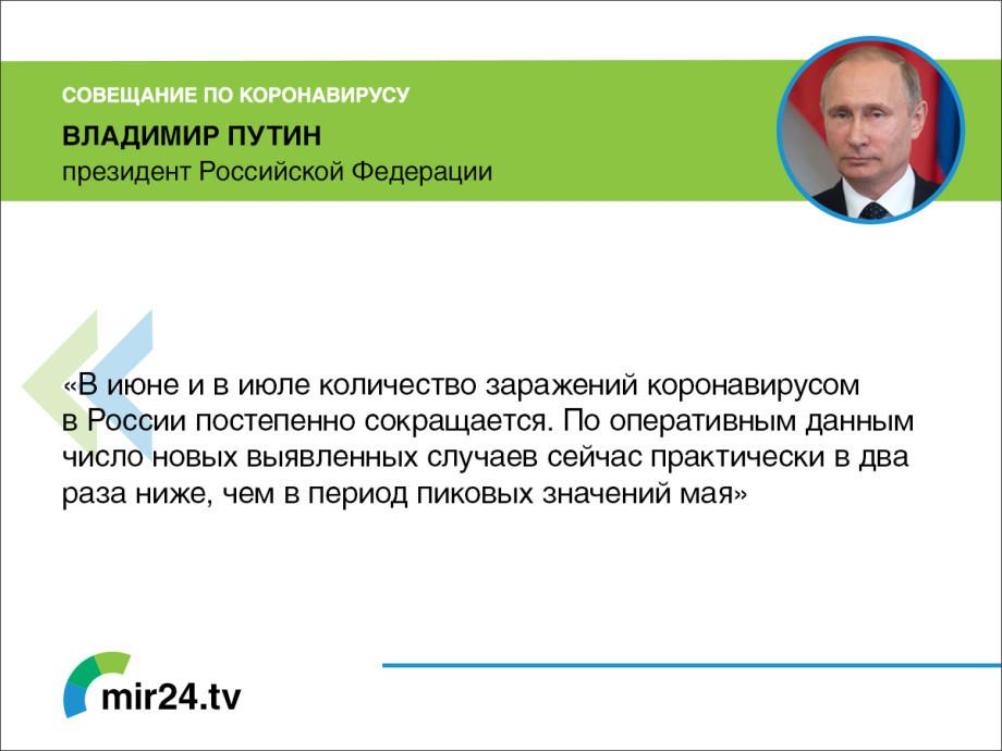 Совещание у Путина по коронавирусу. Главное