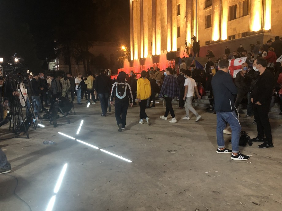 В Грузии недовольная итогами выборов оппозиция готовится к широкомасштабной акции