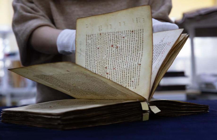 Отреставрированное тысячелетнее Мариинское Евангелие вернулось в Отдел рукописей РГБ