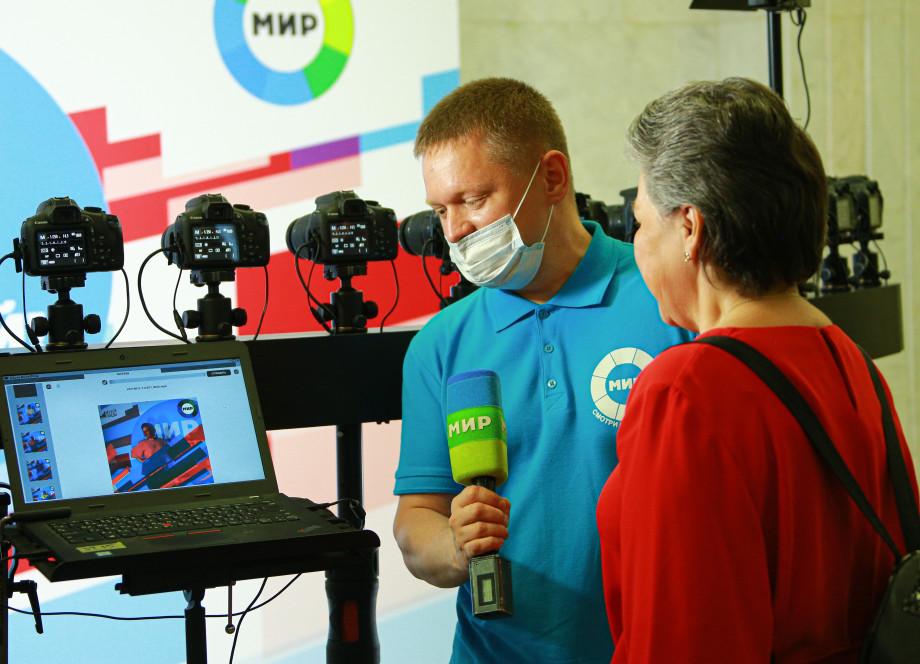 Телерадиокомпания «МИР» открыла площадку в Музее Победы в честь Дня России