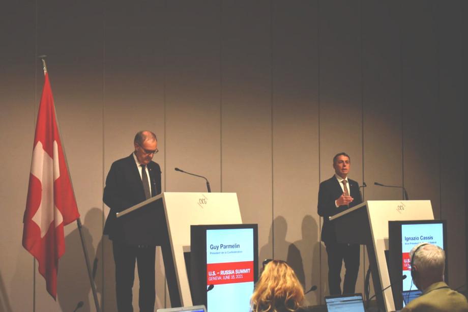 Президент Швейцарии Ги Пармелен: Общение двух великих держав отвечает интересам всего мира