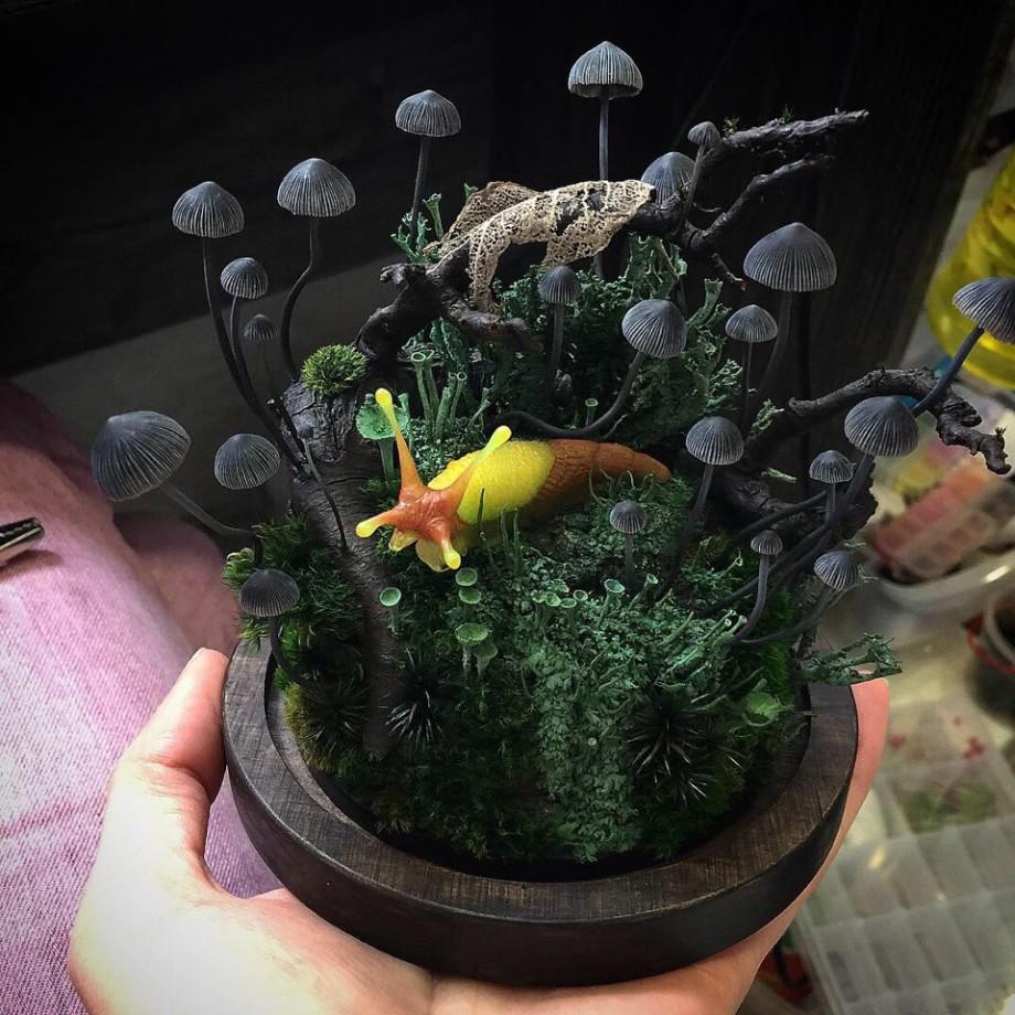 Грибная иллюминация: художница из Иванова создает уникальные светильники в виде грибов