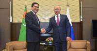 Бердымухамедов пригласил Путина в Ашхабад на конференцию по транспорту