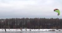 Развлечение для русской зимы: кайтингом по бездорожью