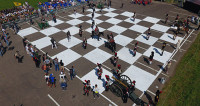 «Живые шахматы» разыграли Бородинское сражение