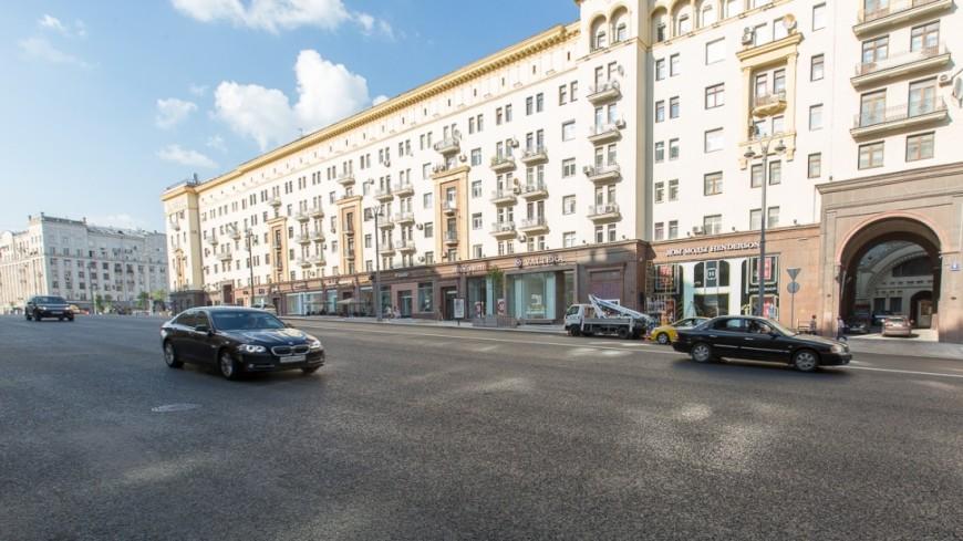 Разметку наТверской и1-й Тверской улицах нанесут доконца недели