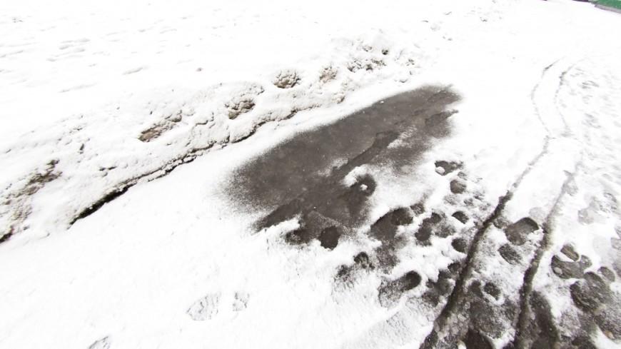 2-ой залето снегопад прошел вНорильске