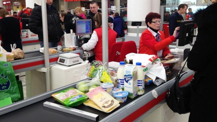 Средний магазинный чек в России снизился на 14 рублей