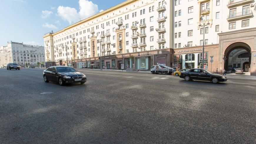Ремонт наТверской улице окончен преждевременно