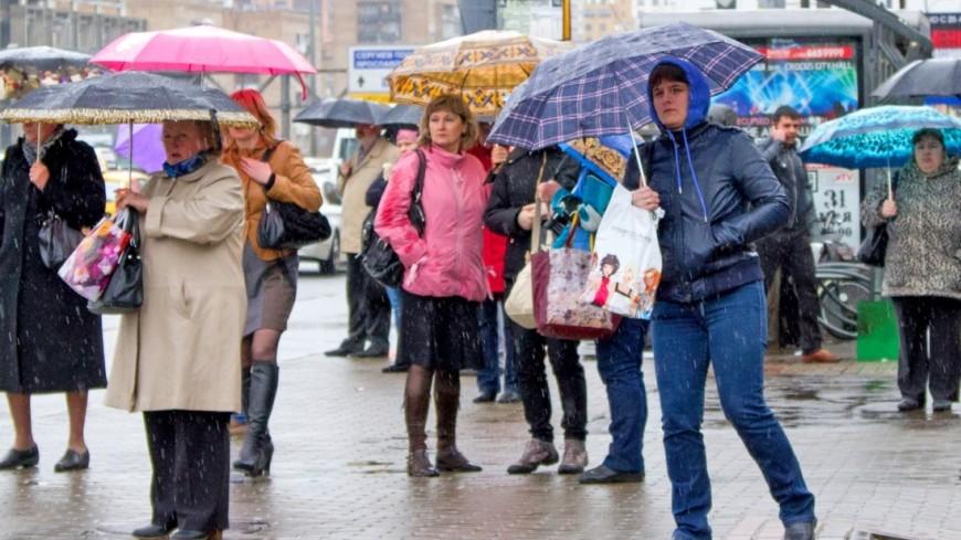 На Москву обрушатся сильный дождь и ветер