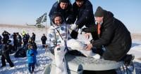 Из спускаемой пилотируемой капсулы успешно эвакуировано три космонавта