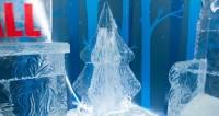Пес – холодное сердце: ледяной символ Нового года установили в Москве