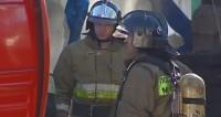 В Подмосковье огонь охватил две постройки на площади 1,5 тыс. кв. м