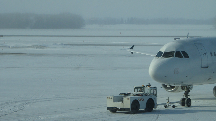 Метель задержала несколько авиарейсов в Москве
