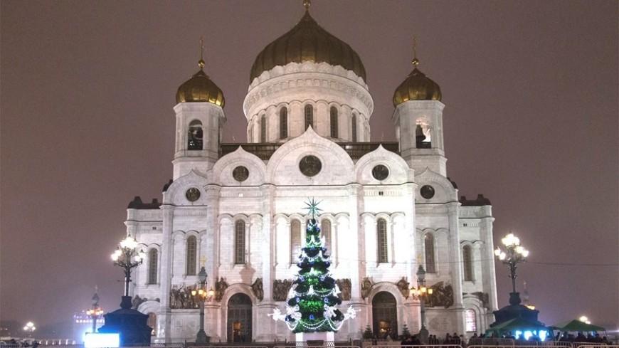 """Фото: """"«Мир 24»"""":http://mir24.tv/, храм христа спасителя, рождество"""
