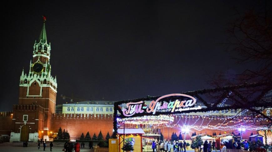 Новогодняя подсветка осветила Москву