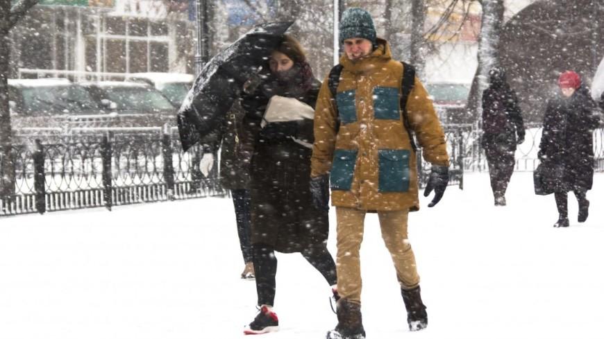 Сильный снегопад в Москве прекратится к вечеру