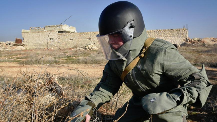 Российские саперы очищают Алеппо от мин «Уранами»