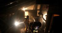 Пожар на московском складе: частично обрушилась кровля