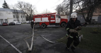 Под Красноярском горит дом престарелых