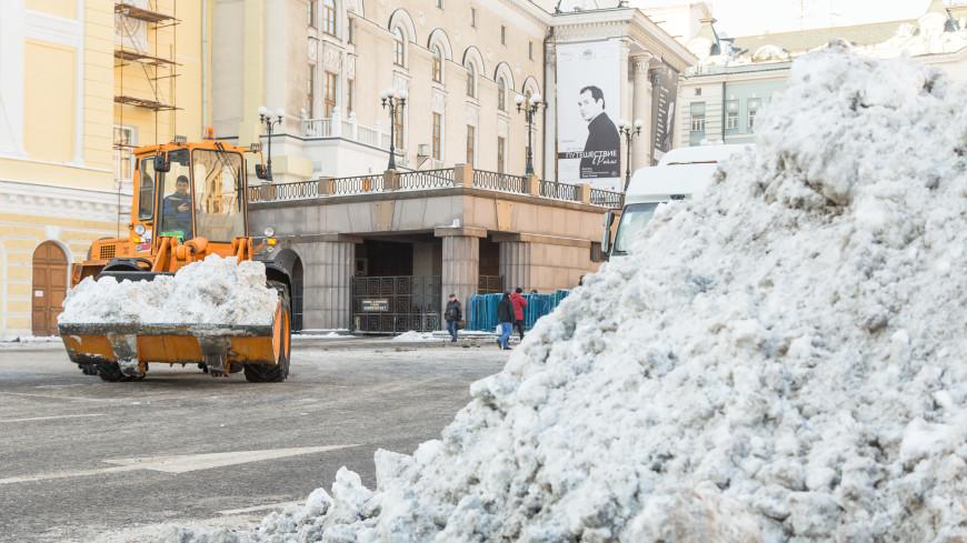 Московские сугробы за ночь выросли до 40 сантиметров