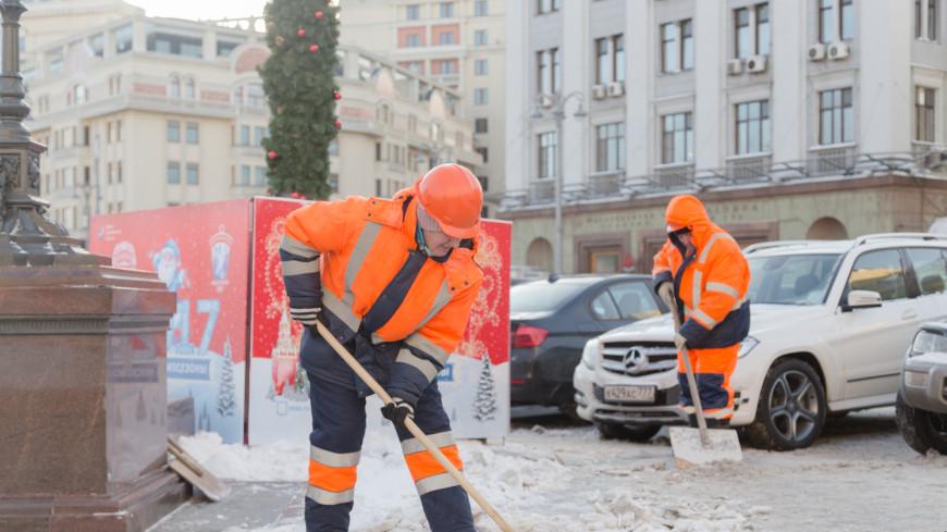 Москва увязла в снежной каше