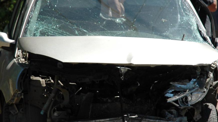 В Москве автомобиль посольства Армении попал в ДТП