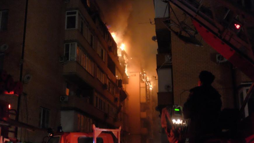 Крупный пожар в Краснодаре: введен режим ЧС