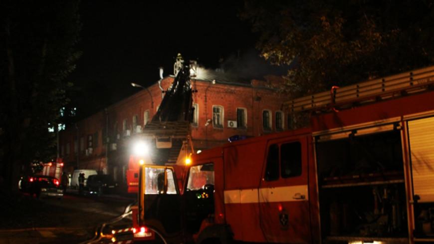 Пожар в жилом доме в Москве выгнал на улицу 65 человек
