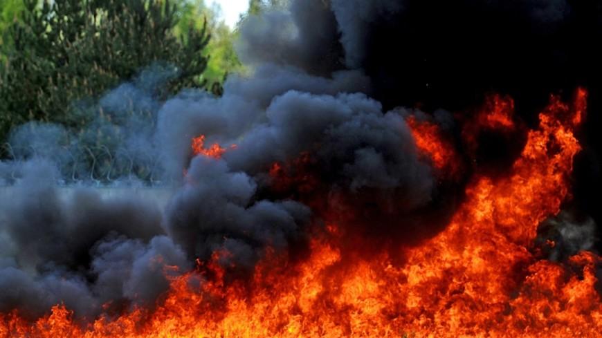 Размещено видео горящего храма XIII века вПольше