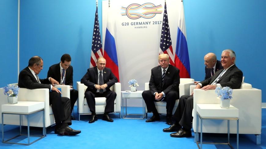 Первая личная встреча Владимира Путина иТрампа продолжается неменее одного часа
