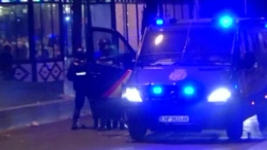 """Скриншот:  """"«Мир24»"""":http://mir24.tv/, испания полиция, скорая, скорая помощь, полиция, испания, мадрид"""