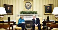В Белом доме объяснили конфуз с рукопожатием Трампа и Меркель