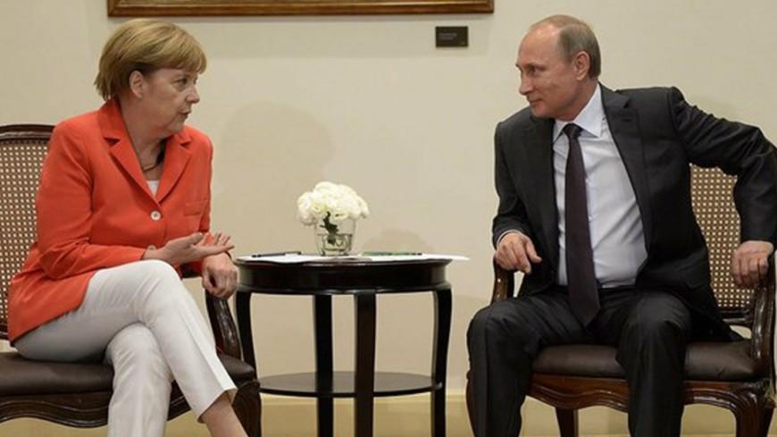 ВКремле поведали отелефонном разговоре В. Путина иМеркель