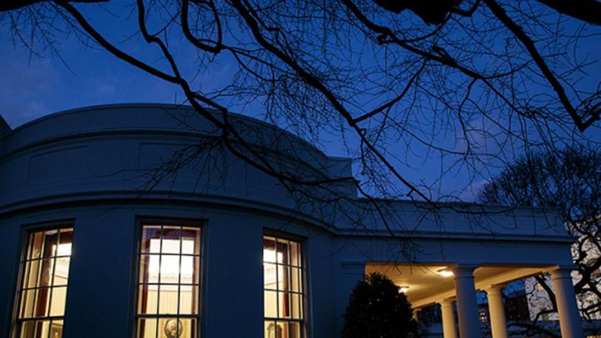 Женщина повисла на заборе, пытаясь проникнуть в Белый дом