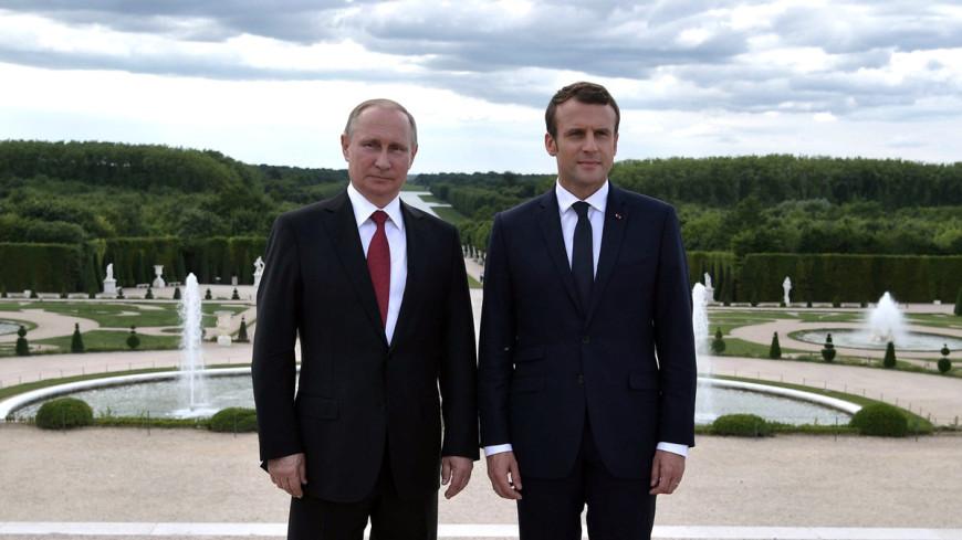 Знакомство в Версале: Макрон и Путин провели первые личные переговоры