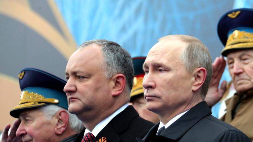 Додон горд тем, что гимн Молдовы прозвучал у стен Кремля