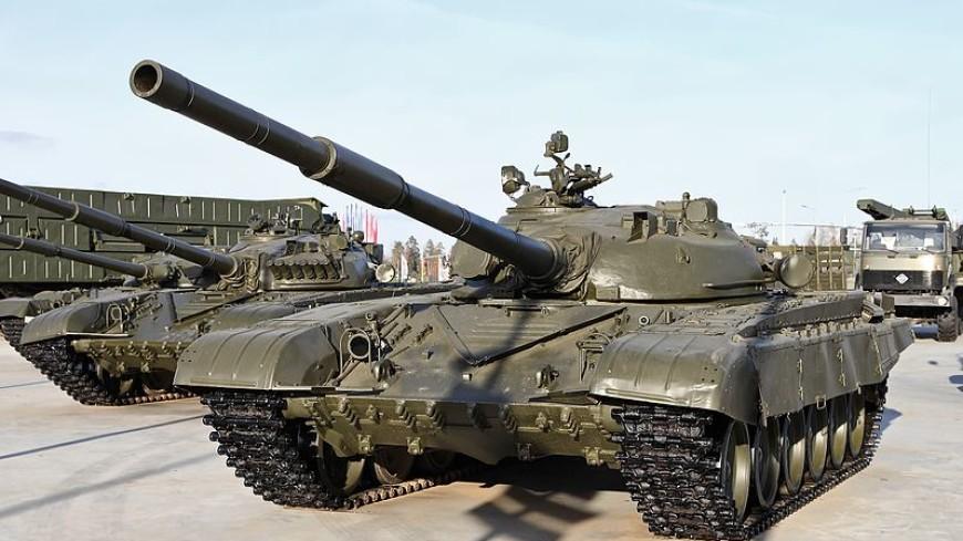 На Урале чуть не сгорел танк-памятник Т-72