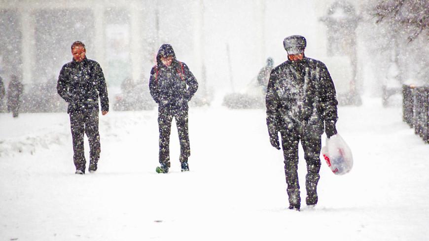 Астана побелела из-за внезапного снега