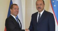Премьер-министр России Медведев прибыл в Узбекистан с официальным визитом