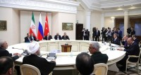 Путин: Россия, Турция и Иран предотвратили распад Сирии